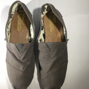 TOMS Gray Canvas Shoes